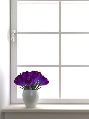 Flowers near the window