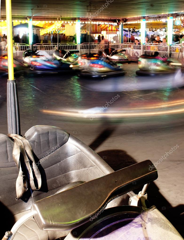 A Vehicle Stands Unused in Bumper Cars at the Fair — Stock Photo ...
