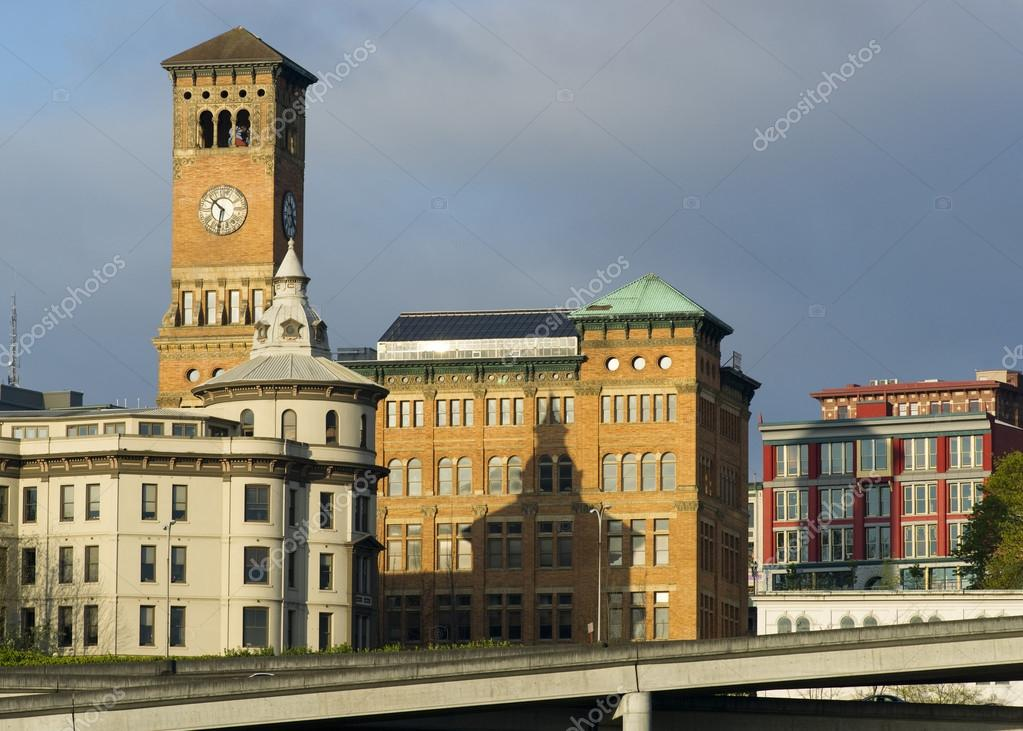 Фотообои Old City Hall and Other Buildings Downtown Tacoma Washington