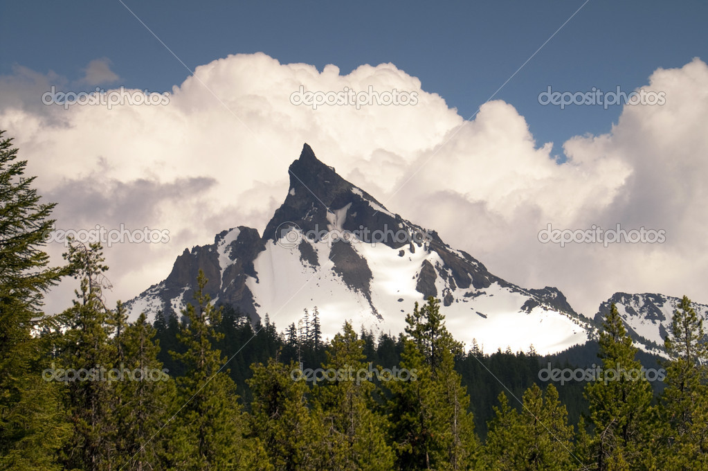 Big Cowhorn Mt. Thielsen Extinct Volcano Oregon Cascade Range