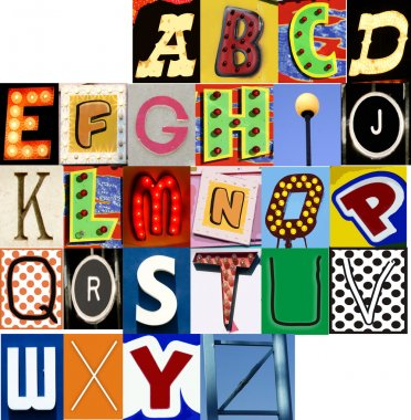 Carnival Alphabet Set JPG Letters Type Typography Characters Fonts
