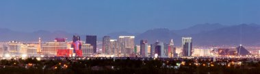Panoramic Southwest Landscape Red Rock Hills Downtown Las Vegas