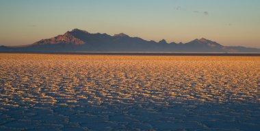 Bonneville Salt Flats Tooele County Utah Pleistocene Lake Sunset