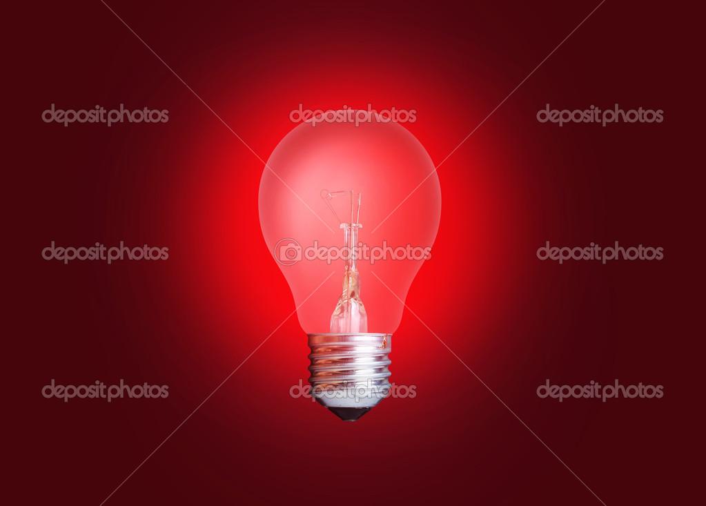 Rood Licht Lamp : Lamp licht rood u stockfoto photoyou
