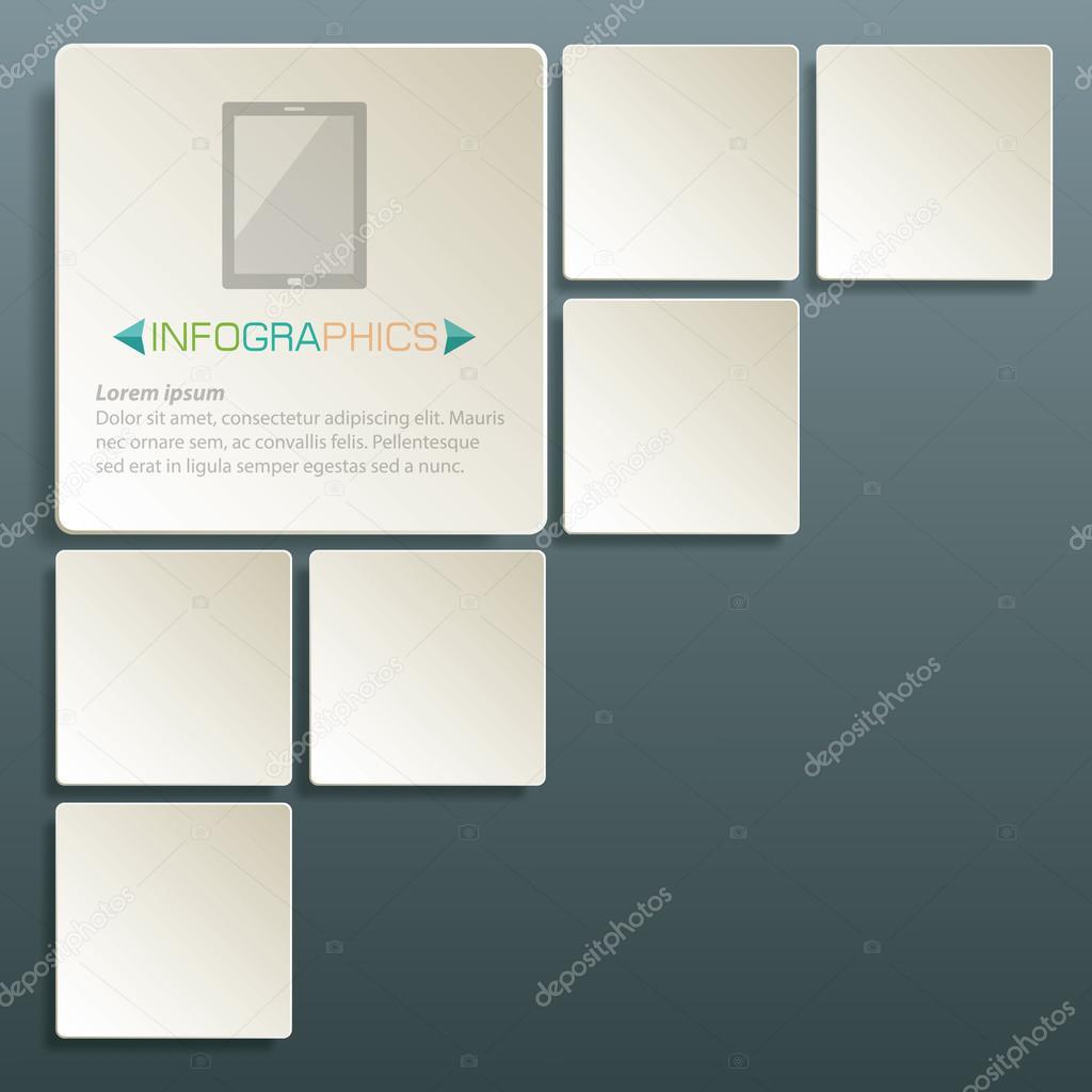 plantilla de Resumen antecedentes de diseño cuadrado mesa para ...