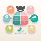 obchodní a finanční infografiky šablony design