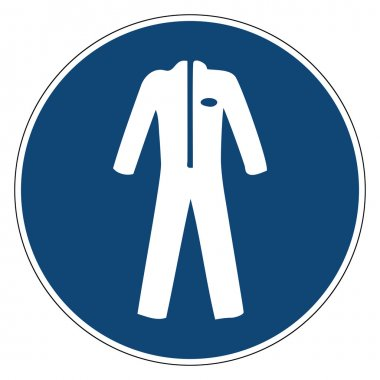 Mandatory action sign, Use protective clothing