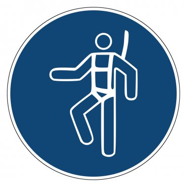 Mandatory action sign,USE SAFETY HARNESS