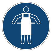 Fotografie Mandatory action sign,USE PROTECTIVE APRON