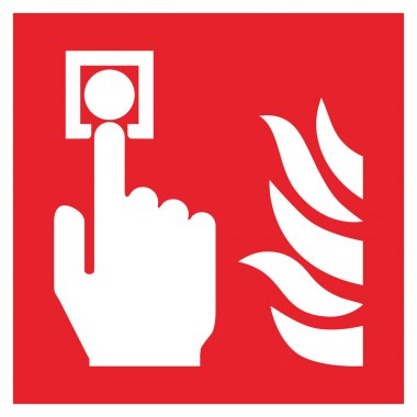 Fire safety sign FIRE ALARM CALL POINT stock vector