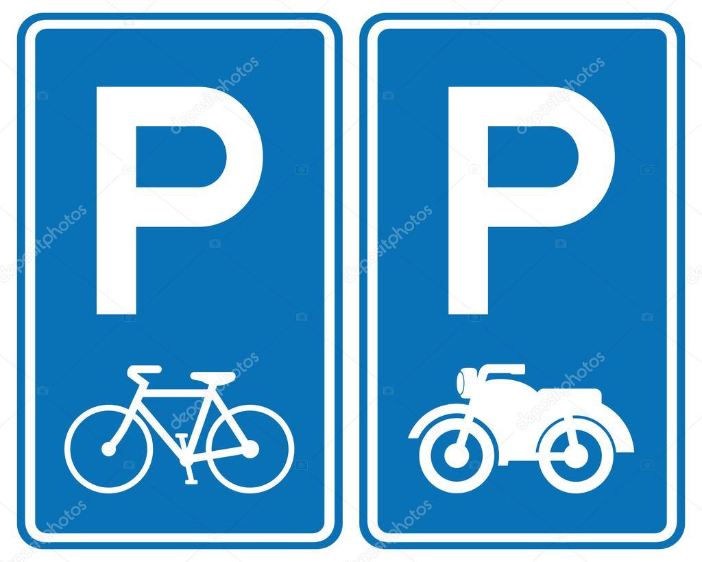 Se 241 Al De Zona De Parque Para Bicicletas Y Motos Archivo
