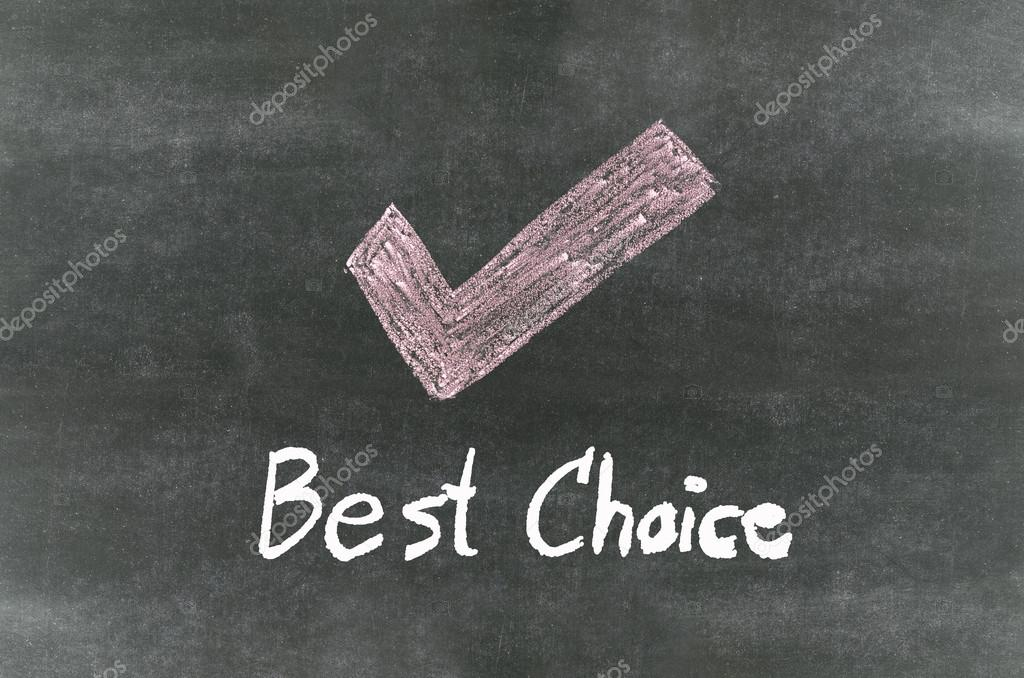 Checkmark Symbol And Wordbest Choice Stock Photo Pupunkkop