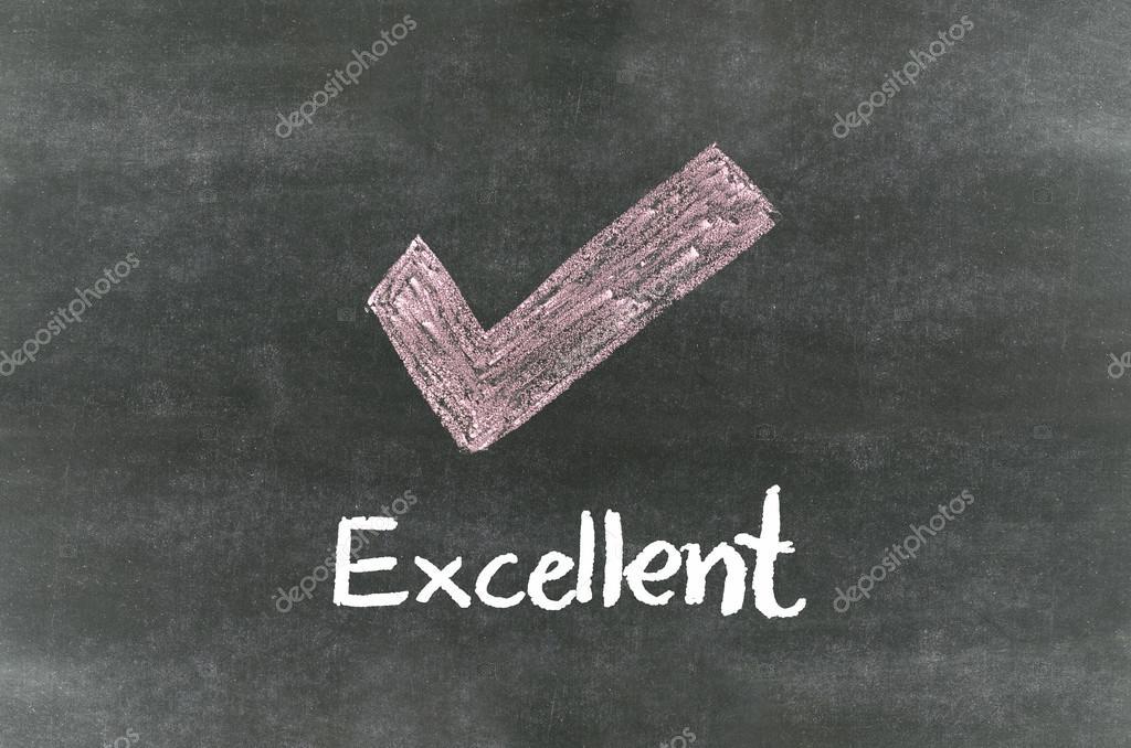 Checkmark Symbol And Wordexcellent Stock Photo Pupunkkop 32530867