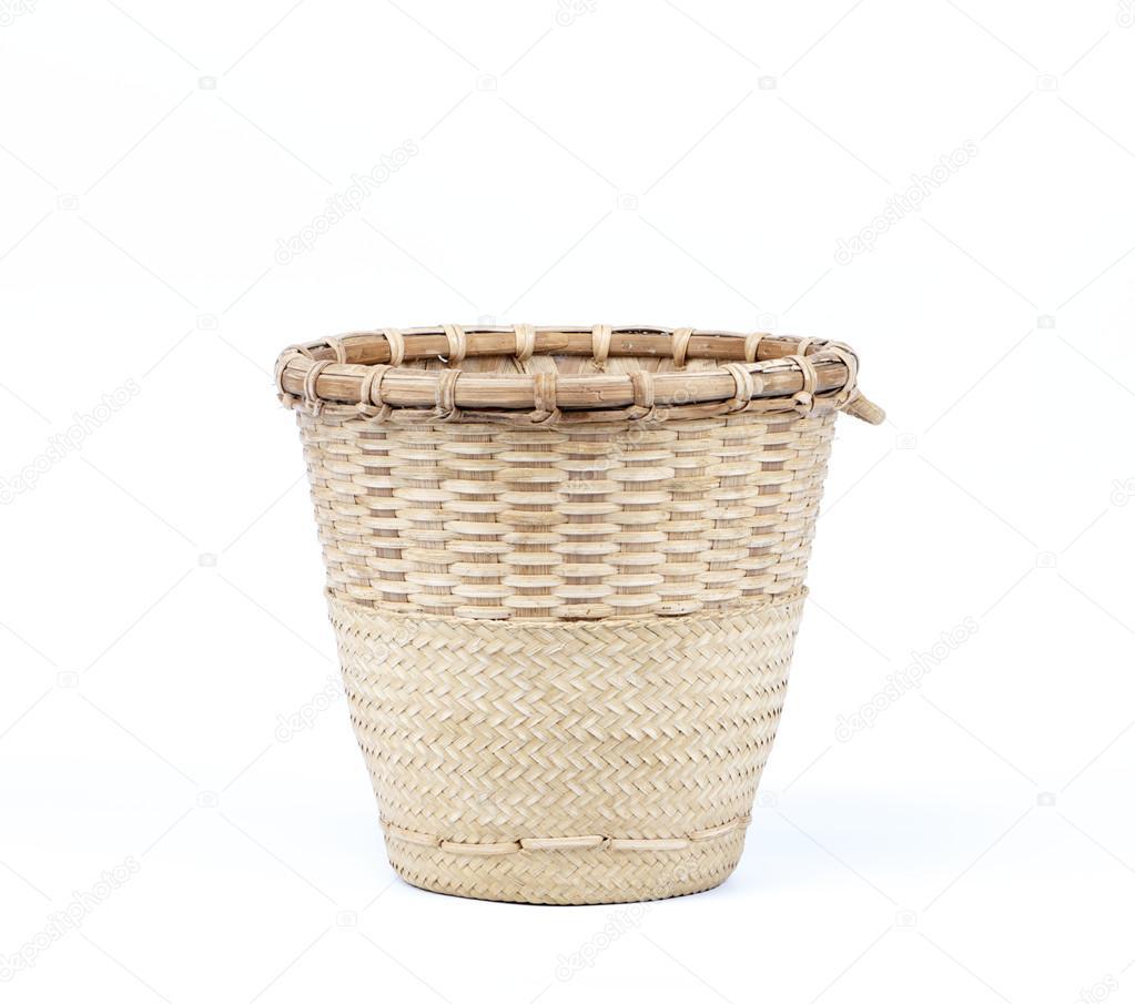 Bambus Korb Flechten Stockfoto C Pupunkkop 36110281