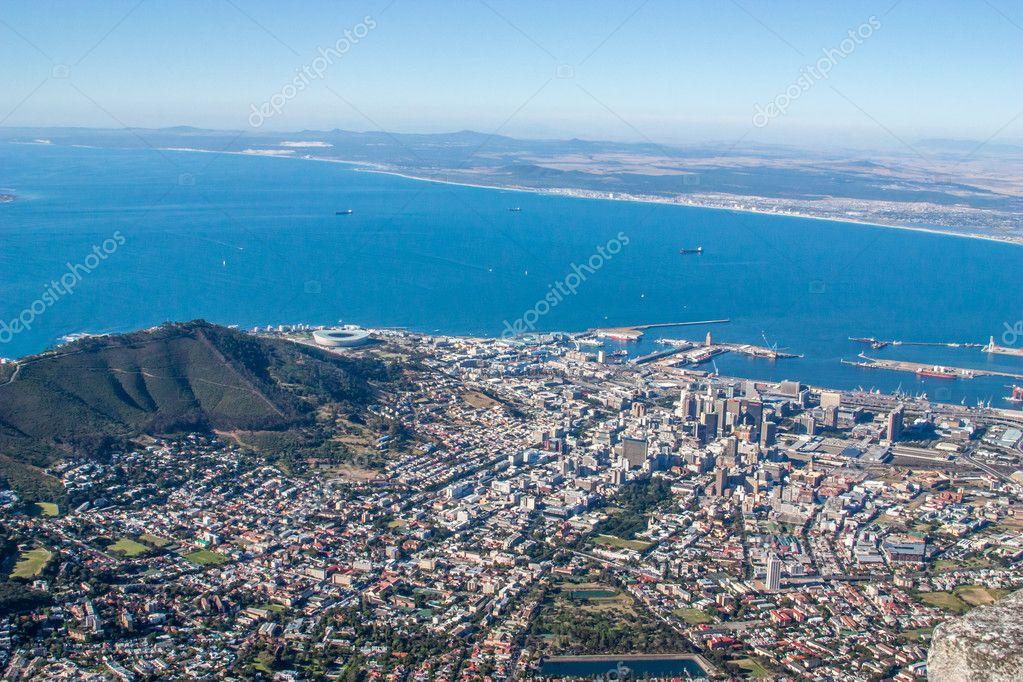 Vista panoramica a citt del capo il monte table sud for Sud africa immagini