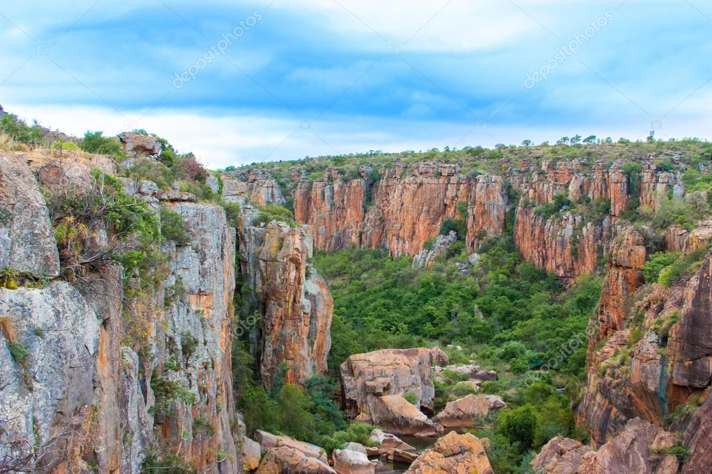 Blyde River Canyon,South Africa, Mpumalanga, Summer Landscape, red rocks and water