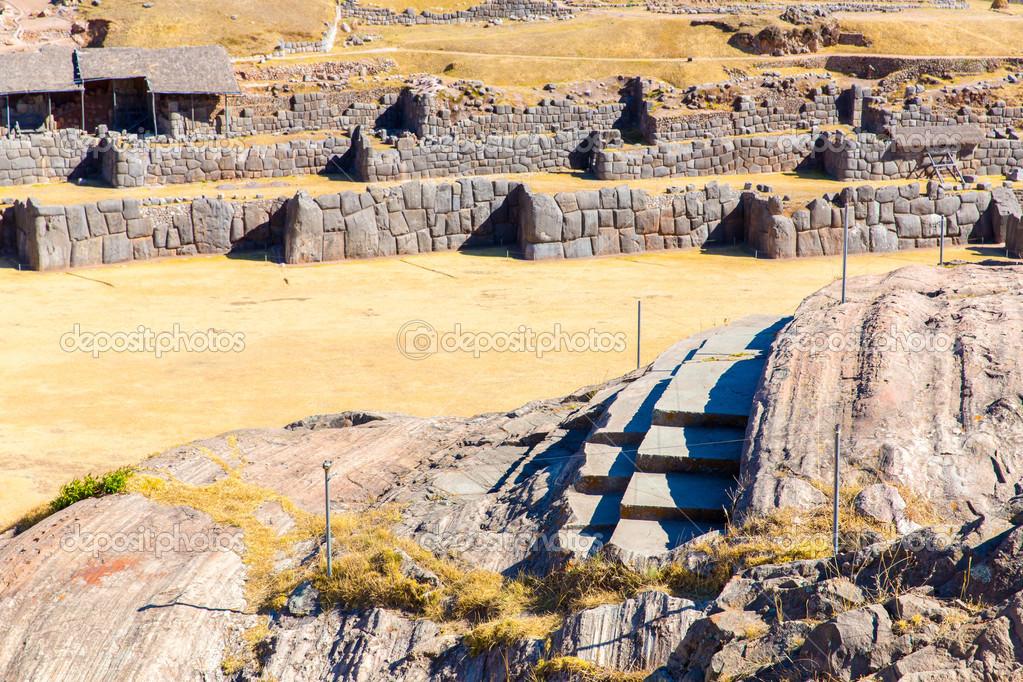 Inca Wall in SAQSAYWAMAN, Peru