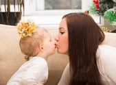 Fotografie Kuss für Mutter und Kind