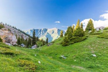 Tien Shan Mountains in Almaty