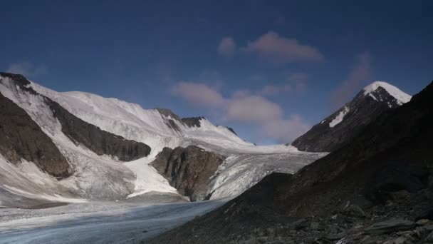 Wide shot of melting of glaciers global warming climate change (static - day)