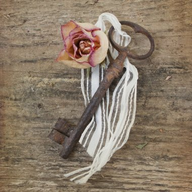 Antique, rusty keys
