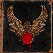 Adler mit rotem Siegel