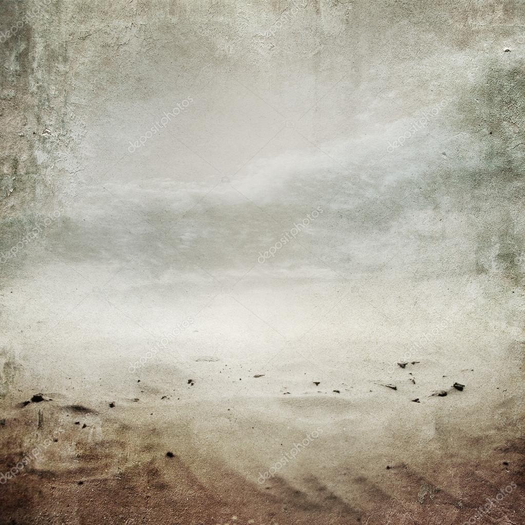 Vintage desert landscape background