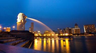 Merlion fountain on Singapore