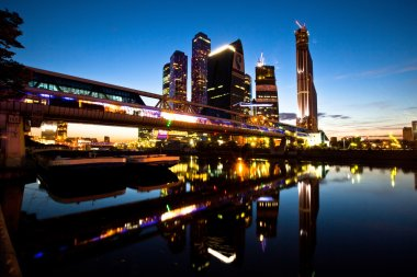 MOSCOW - SEPTEMBER 17: The Moscow International Business Center, Moscow-City on September 17, 2011 in Moscow.