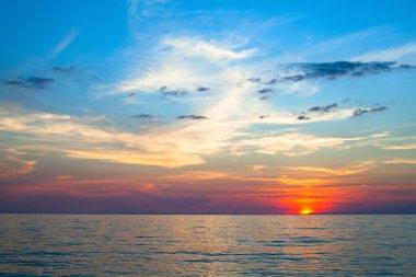 Beautiful sunset and sea beach.