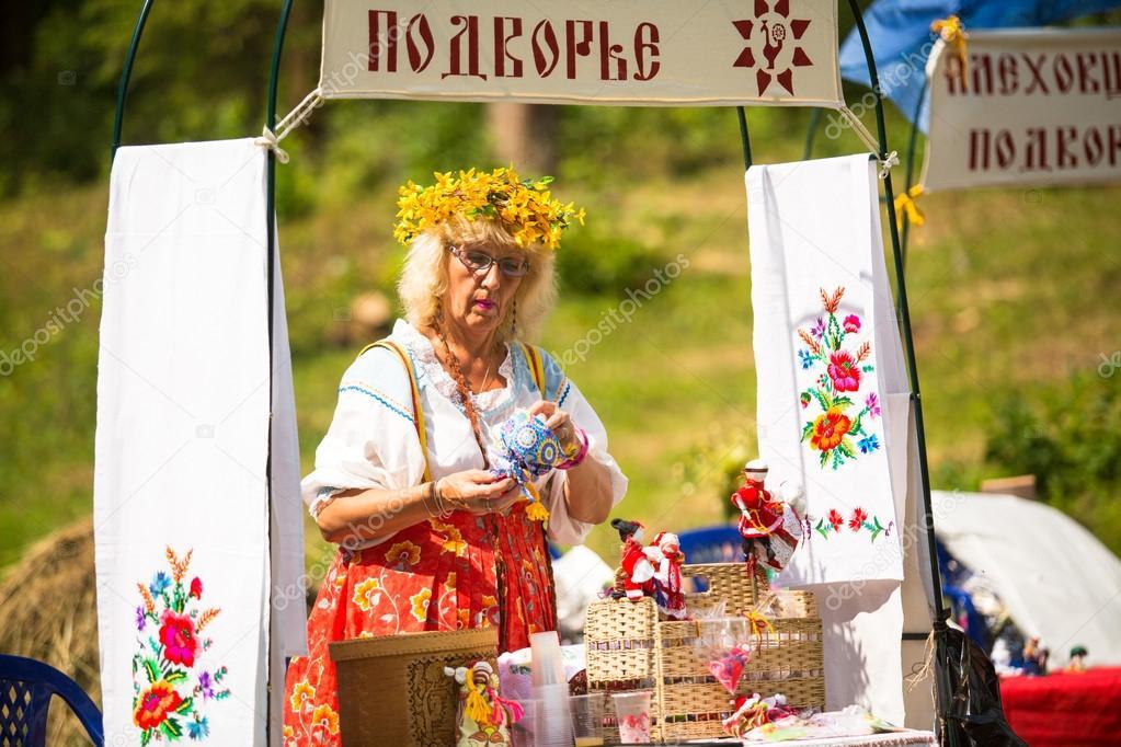 TERVENICHI, RUSSIA - JULY 7: Unidentified children during Ivan Kupala Day, July 7, 2013, Tervenichi, Russia.