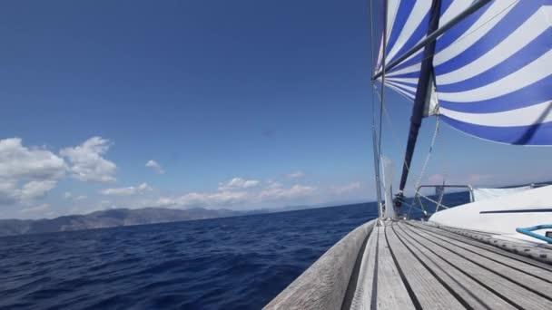 Sailboats sailing sail blue Mediterranean sea (HD)
