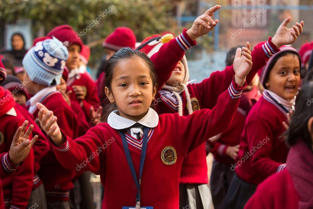 Dance lesson in primary school