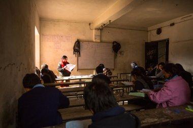 Children in the lesson