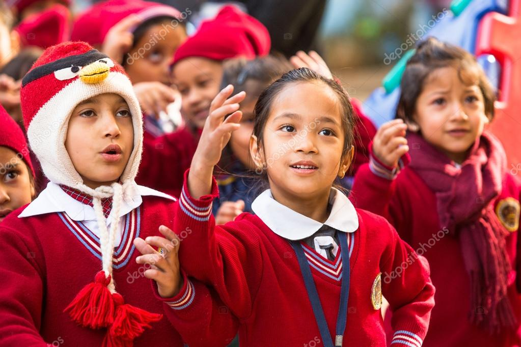 Lesson in Nepal school.
