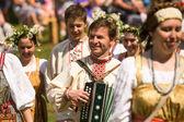 Helyi emberek ünnepelt Ivan Kupala nap