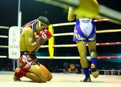 Neidentifikovaný muay thai bojovníky soutěžit