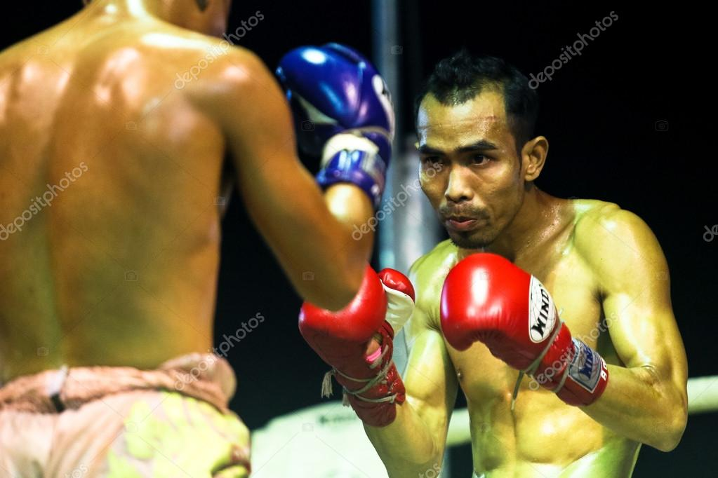 Unidentified Muay Thai fighters compete