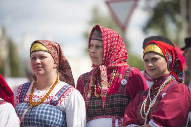 Unidentified participants on celebration day of the city