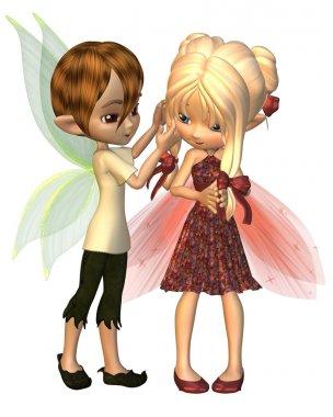 Cute Toon Fairy Friends