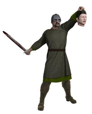 Viking Holding Severed Head