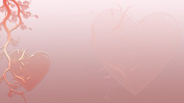 Valentine Hearts Background in Business Card Format