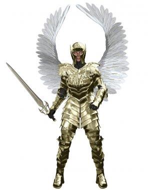 Archangel Michael in Golden Armour