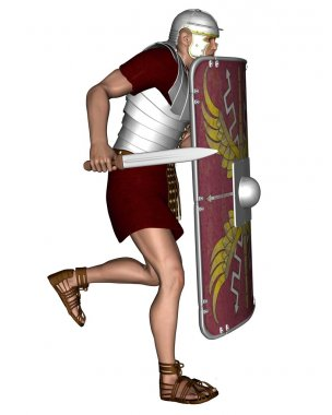 Imperial Roman Legionary Soldier running