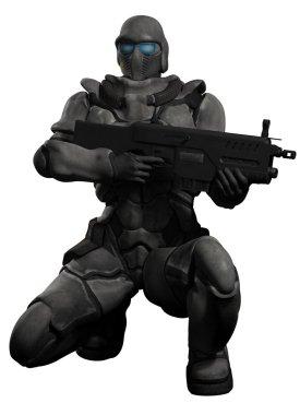 Space Marine Trooper Crouching