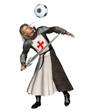 Saint George heading a football