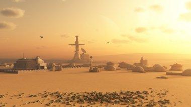 Martian Desert Colony