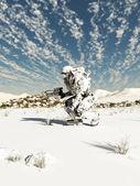 Fotografie zukünftige Soldat, Schnee-Patrouille