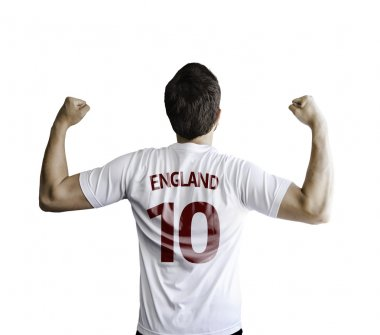 English soccer player celebrates