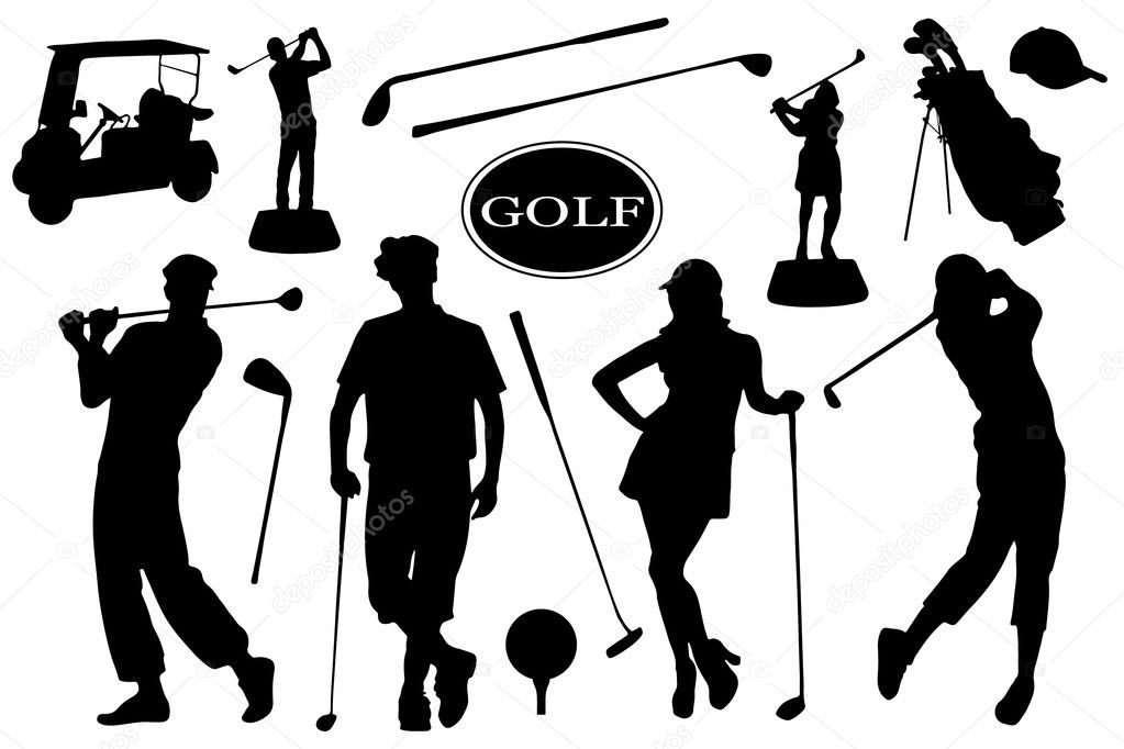 Golf Silhouettes Stock Vector C Yyanng 44205639